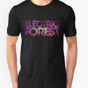 CREYXT3 Custom Design T Shirts Electric Forest T Shirt Festival Music Rothbury Electronic Jam Band casual Fitness Clothing Tee shirt