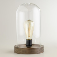 Edison Glass Cloche Table Lamp - World Market