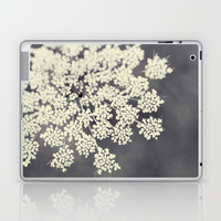 Black and White Queen Annes Lace Laptop & iPad Skin by Erin Johnson