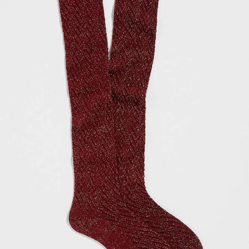 chevron stitched boot socks with shimmer in rose petal | maurices