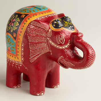 Red Terracotta Elephant Bank - World Market