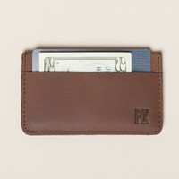 Jeffery Tan Leather Card Holder