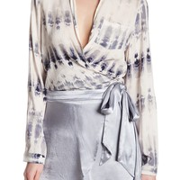 Dress Forum | Tie-Dye Wrap Blouse | Nordstrom Rack