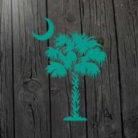 South Carolina decal Palmetto tree decal South Carolina car decal Palmetto tree car decal South Carolina wall decal South Carolina sticker