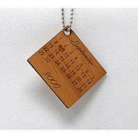 Keychain Calendar with Special Date KC-007 Laser Cut Custom