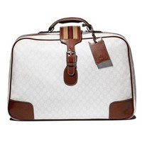 Gucci rare vintage white soft carry-on