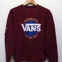 VANS Casual Embroidery Top Sweater Pullover Sweatshirt