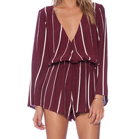 FAITHFULL THE BRAND x REVOLVE Vision Playsuit in Burgundy