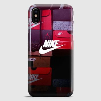 Nike Colorful Embosement iPhone X Case