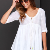 O'Neill Stevie Ivory Babydoll Top