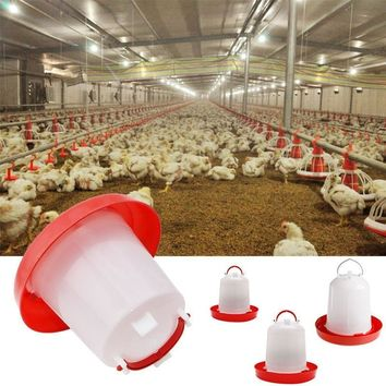 Robust Plastic Chicken Quail Poultry Hen Drinker Food Feeder 1.5 / 2.5 / 4L HOT