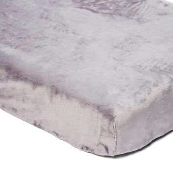 Smooth Graphite Minky Changing Pad