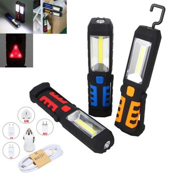 Rechargeable Portable LED Magnetic Flashlight | 360 Degree Stand