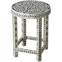 Black & White Bone Inlay Accent Table