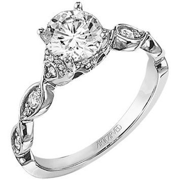 "Artcarved ""Annika"" Diamond Engagement Ring"