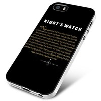 Game Of Thrones Nights Watch Design iPhone 5 | 5S | 5SE Case Planetscase.com