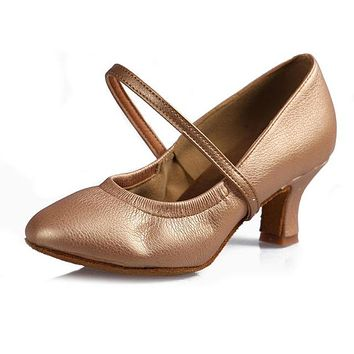 Hot selling Closed Toe Modern Dance Shoes Salsa Ballroom Tango Latin Shoes For Dance Girls Ladies Women Dance