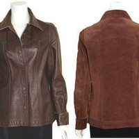 70s Reversible Vintage Leather Jacket Spain