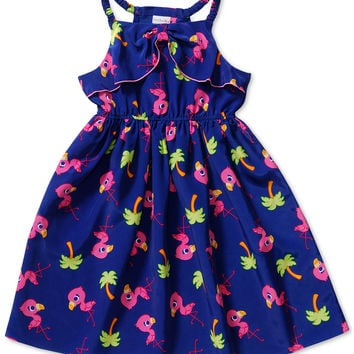Sweet Heart Rose Little Girls' Flamingo-Print Dress