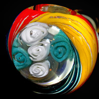 The Best Valentine's Day Gift for Him or Her - Bouquet of Roses Glass Pipe - Functional Smoking Bowl w/ Flowers Top