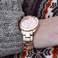 Clockwork Rose Gold Link Watch