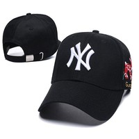 GUCCI X NY Woman Men Embroidered Sport Baseball Hat Cap