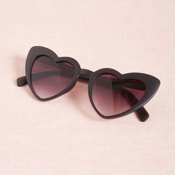 Wholeheartedly Darling Sunglasses in Black