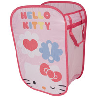 Hello Kitty Pop Open Pink Square Hamper & Toy Storage