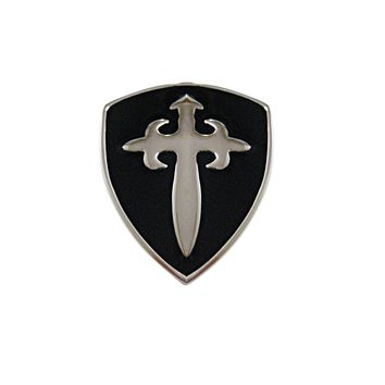 Black Medieval Shield Magnet