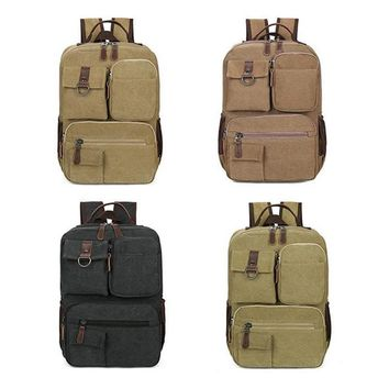 Wulekue 4 Color Ancient Ways Canvas Polyester travel shoulder school simple rucksack bags