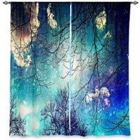Window Curtains Unlined from DiaNoche Designs Artistic, Stylish, Unique, Decorative, Fun, Funky, Cool by Sylvia Cook Night Sky