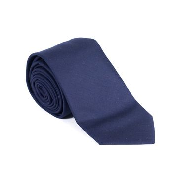 Brunello Cucinelli Mens Ribbed Knit Wool Solid Navy Tie