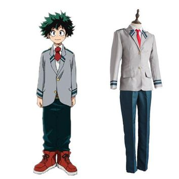 LMONF Izuku Midoriya cosplay costumes School uniforms Japanese anime My Hero Academia cosplay clothing(top+pante+tie)