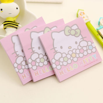 C17 Kawaii Cute Hello Kitty Memo Pads Planner Stickers Student Stationery School Office Supply Sticky Notes Post it Notepads