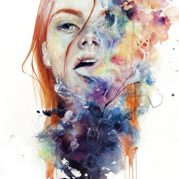 this thing called art is really dangerous Stretched Canvas by Agnes-cecile | Society6