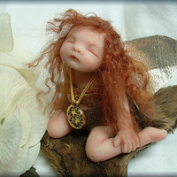 Custom OOAK Hand Sculpted Miniature Boy or Girl Fairy - Made to Order Mini Pixie Art Doll