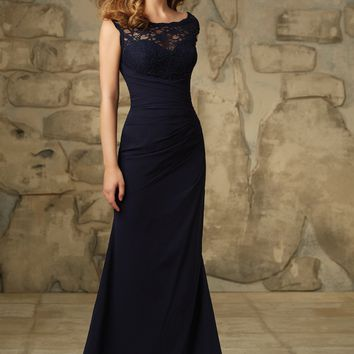 Morilee Bridesmaids 105 Chiffon and Lace Fit and Flare Bridesmaids Dress