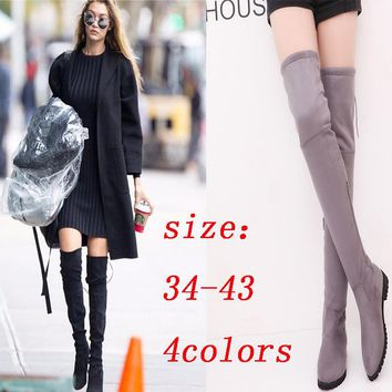 Hot Deal On Sale Flat Plus Size Shoes Winter Boots [120847204377]