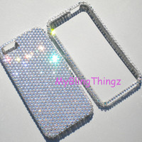 Clear Exquisite Crystal Diamond Rhinestone BLING 2-Piece Case for Apple iPhone 5 handmade using 100% Swarovski Elements