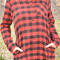 Mountain Getaway Top - Red
