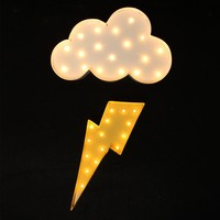 Cloud and Lightning LED Marquee Sign