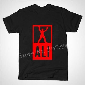 New Summer Mens MUHAMMAD ALI T Shirts Men Fitness Casual clothing MMA Short Sleeve Tshirt