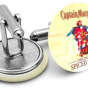 Captain Morgan Spiced Rum Cufflinks