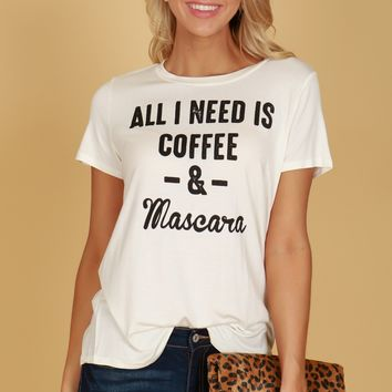 Coffee & Mascara Graphic Tee Off White