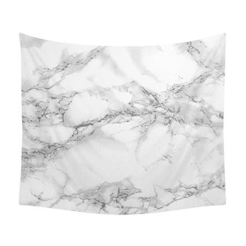 Marble Tapestry, Texture Photo, White Stone, Marble Pattern, Minimalist Art, White, Grey, Gray, Modern Wall Tapestries, Elegant Decoration