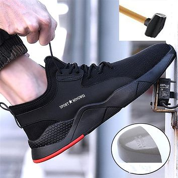 Men Boot Work Safety Boot Fashion Sneakers Men Shoes Steel Toe Military Boots Combat Ankle Boots