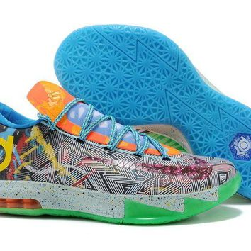 Nike Kd 6 What The Kd Hoop Purple/urgent Orange-shark 669809-500 - Beauty Ticks