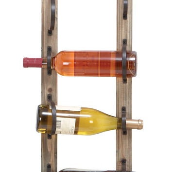 Unique Chalkboard Wine Rack with 4 Slots