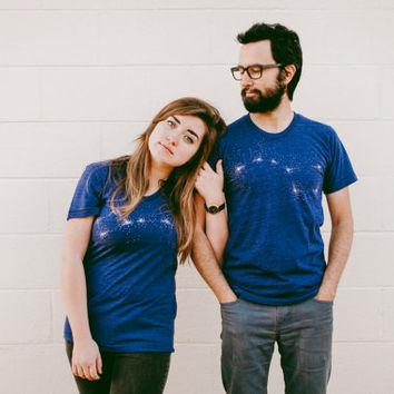 Big Dipper Little Dipper Tshirt set, wedding gift, his and hers t shirts, gift for couples, astronomy t shirt set, Valentines Day