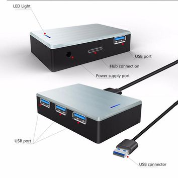 llano USB 3.0 HUB Super Speed External 4 Port USB Splitter With USB 3.0 Data cable